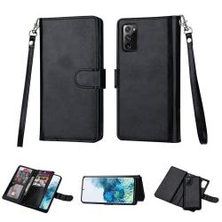 Samsung Galaxy Note 20 - 9-Korts Plånboksfodral Svart