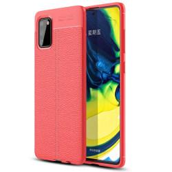 Samsung Galaxy S20 - Litchi Läder Design Skal Röd