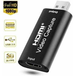 HDMI till USB Video Capture Card 1080P HD Recorder Game Streaming