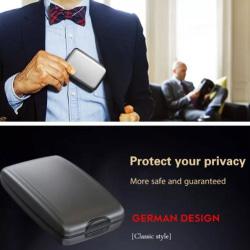 Multifunktionell plånbok Vattentät slitstark aluminiumplånbok A black