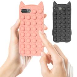 iPhone 7 Plus / 8 Plus - Skal / Skydd / Pop It Fidget Svart
