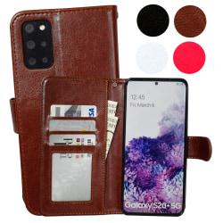 Samsung Galaxy S20 Plus - Läderfodral / Skydd Svart