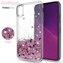 iPhone XR - Flytande Glitter 3D Bling Skal Case