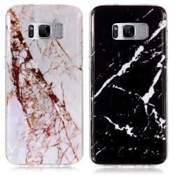 Samsung Galaxy S8 - Skal / Skydd / Marmor Svart