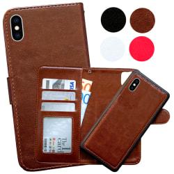 iPhone X/Xs - Plånboksfodral / Magnet Skal Svart