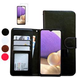 Samsung Galaxy A32 5G - Läderfodral / Skydd Rosa