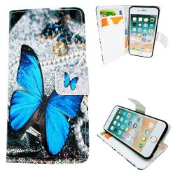 iPhone 5/5s/SE2016-Fodral/Plånbok Läder - Fjäril