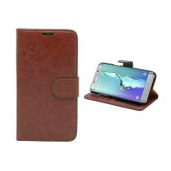 Fodral / Plånbok i Läder - Samsung Galaxy S6 Edge Plus Brun