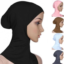 Heltäckande Hijab Cap Underscarf Neck Head Svart
