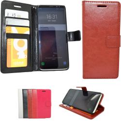 Läderfodral / Plånbok - Samsung Galaxy S8 Plus Brun