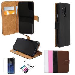 LG G7 ThinQ - Läderfodral / Skydd Svart