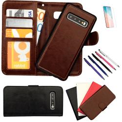 Samsung Galaxy S10 - Läderfodral / Skydd Rosa
