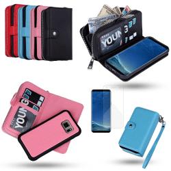 Samsung Galaxy S8 Plus - Läderfodral/Skydd Rosa