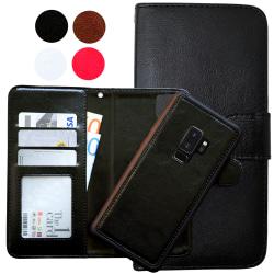 Samsung Galaxy S9 Plus - Läderfodral / Magnet Skal Brun