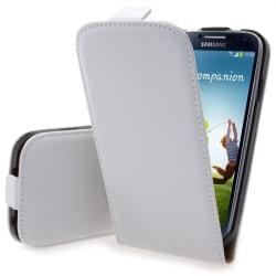Samsung Galaxy S4 / S4+ Vitt Flip fodral, skydd / fodral läder