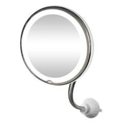 My flexible mirror med 10x förstoring och LED-ljus
