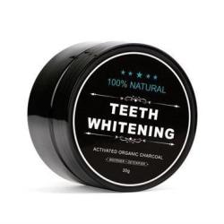 Teeth Whitening Charcoal 100% Naturlig Tandblekning (30 g) Svart