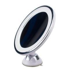 UNIQ Spegel med sugkopp, LED-Ljus & x10 förstoring, Vit Vit