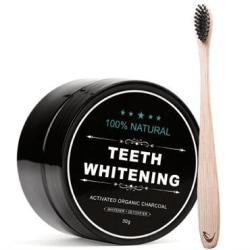 Whitening Tandblekning med aktivt kol + Tandborste i Bambu Svart