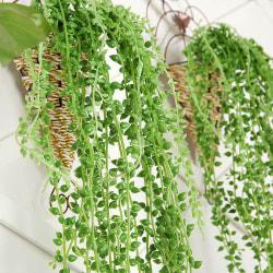 Konstgjorda Hängande Växter Fake Flower Green Ivy Wall Decor Dark Green 1 PC