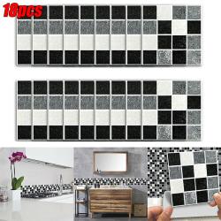 18st 3D DIY Mosaic Sticker Kitchen Tile Stickers Wall Decor 18 pcs