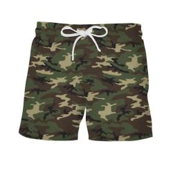 Mens pojkar simning Board Shorts Trunks Dragsko Beach Shorts Camo L