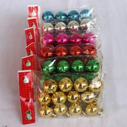 Christmas Ball Ornaments för Xmas Tree Decorations Hanging Ball Red 12pcs