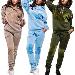 2: a Kvinnors Träningsdräkt Huvtröjor Toppar Byxor Set Loungewear