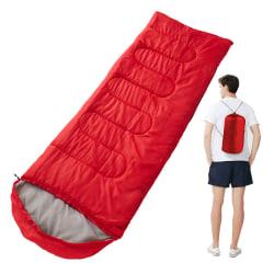 Bärbar sovsäck utomhus Survival Camping Red