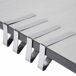 1/4/8/12 st rostfritt stål bordsduk täcker klämmor 4PCS