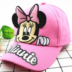 Barnjusterbar tecknad mössa pojkar flickor Snapback hatt Pink