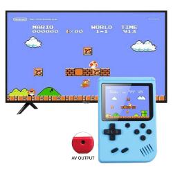 Inbyggd 500 klassiska spel handhållna retro videospelkonsoler Blue
