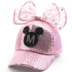 Flickor Lovely Bowknot Baseball Cap Summer Visor Sun Hat
