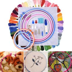 50-färgs DIY-tråduppsättning korssybroderi