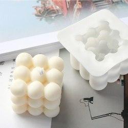 3D Silikon Ljusformar DIY Ljus vaxgips mögel Single 9 Ball