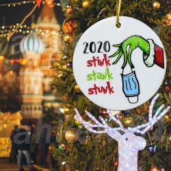 2020 Stink Stank Stunk Mask Ornament Christmas Tree Decor Gift Pedant 1