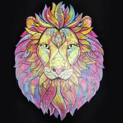 Sticksåg i trä Unik form st. Bästa gåva Mystiskt lejon Lion A4