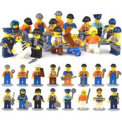 Minifigurer Polisarmé Brandman Ninja byggstenar leksaker E