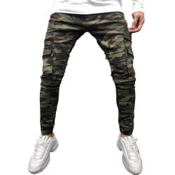 Mens Camo Overalls Army Pockets Jeans Tactical Cargo Pants M