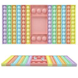 Big Size Game Rainbow Schackbräde Bubble Fidget Sensoriska leksaker Light Multicolor