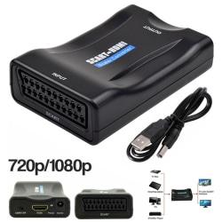 SCART till HDMI-adapter HD Video Audio Upscale Converter USB-kabel
