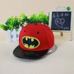 Barnpojkar Batman-keps Hip-hop justerbar avslappnad solhatt Red
