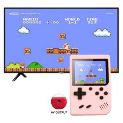 Inbyggd 500 klassiska spel handhållna retro videospelkonsoler Pink