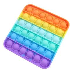 Pop it Fidget Push Toy Bubble Sensorisk stressboll Familjeleksaker Multicolor - Square