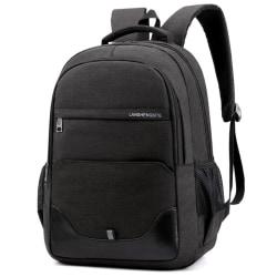 Oxford ryggsäck för män med stor kapacitet Mode skolväska Black