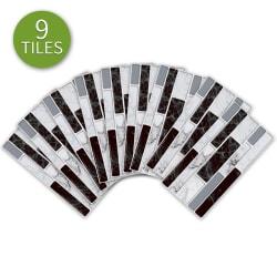 9st 3D självhäftande mosaik kakel klistermärke väggdekaler 9 pcs