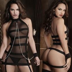 Underkläder Nattkläder Sheer Womens G String Klänning Babydoll