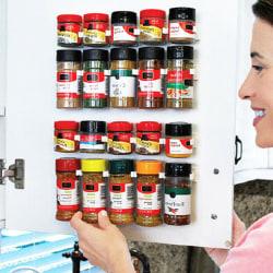Köksklämma Spice Jar Rack Storage Holder 4pcs
