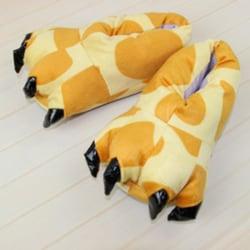 Vuxna barn djur monster fötter tofflor plysch skor giraff S(Kid)