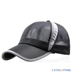 Mäns dam mesh mesh andas baseball keps golf sport hatt Black
